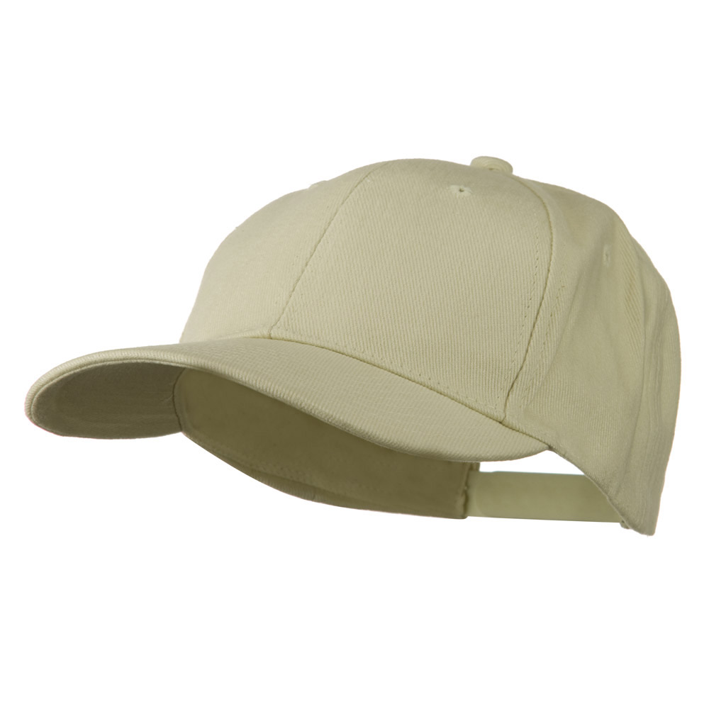 Low Profile Structured Heavy Brushed Cotton Cap - Natural