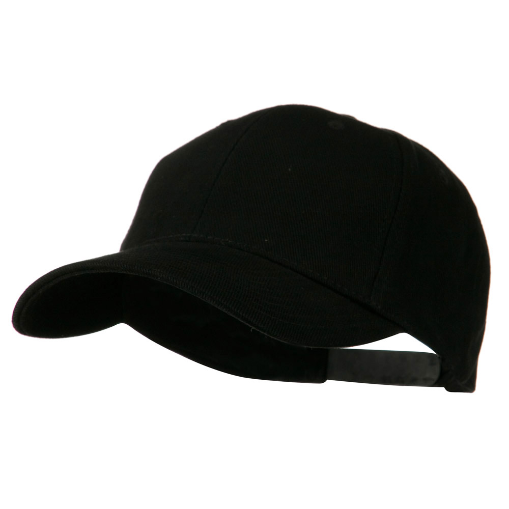 Low Profile Structured Heavy Brushed Cotton Cap - Black - Hats and Caps Online Shop - Hip Head Gear