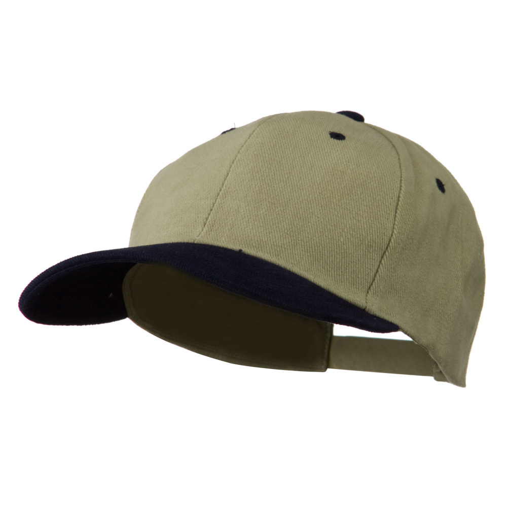 Low Profile Structured Heavy Brushed Cotton Cap - Khaki Navy - Hats and Caps Online Shop - Hip Head Gear