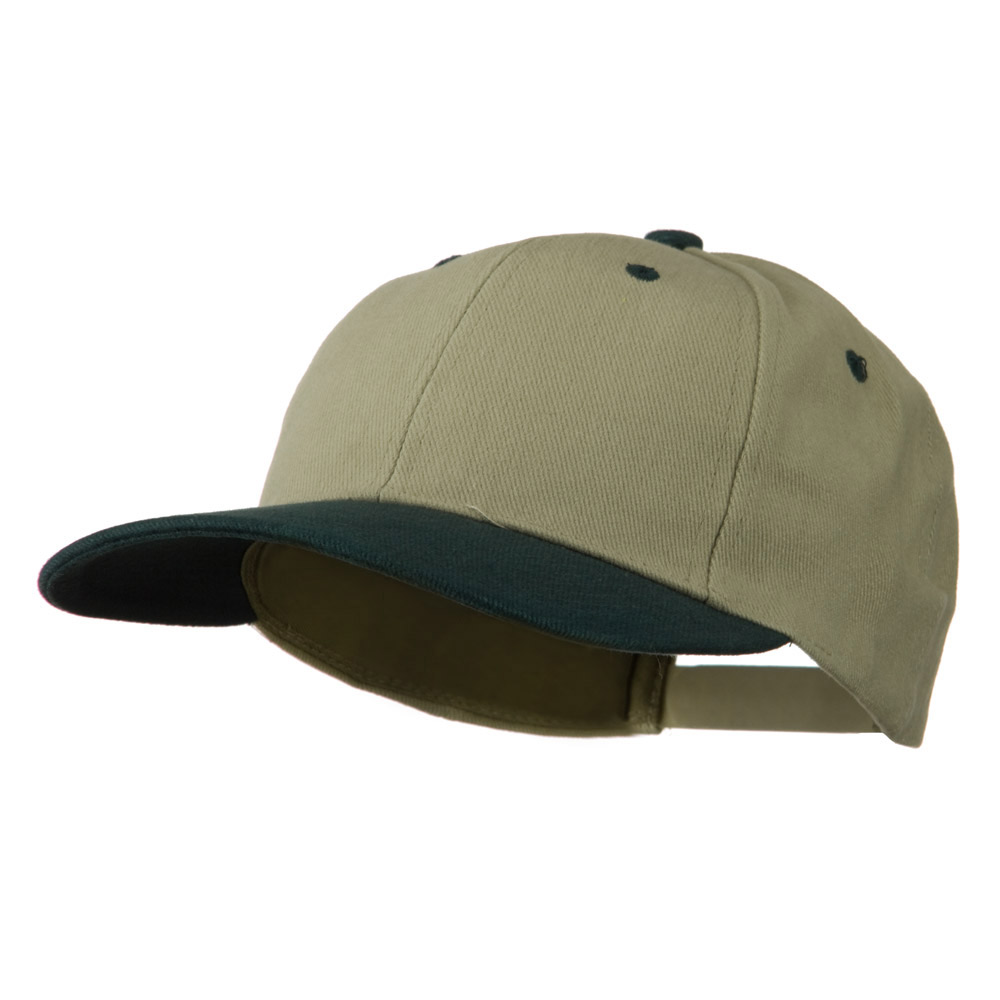 Low Profile Structured Heavy Brushed Cotton Cap - Khaki Dark Green - Hats and Caps Online Shop - Hip Head Gear