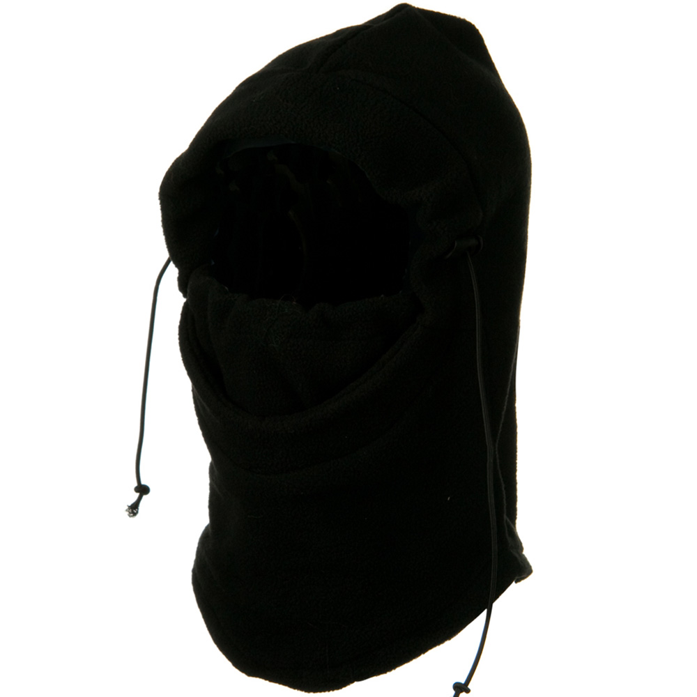 3 in 1 Heavyweight Fleece Hood Mask - Black - Hats and Caps Online Shop - Hip Head Gear