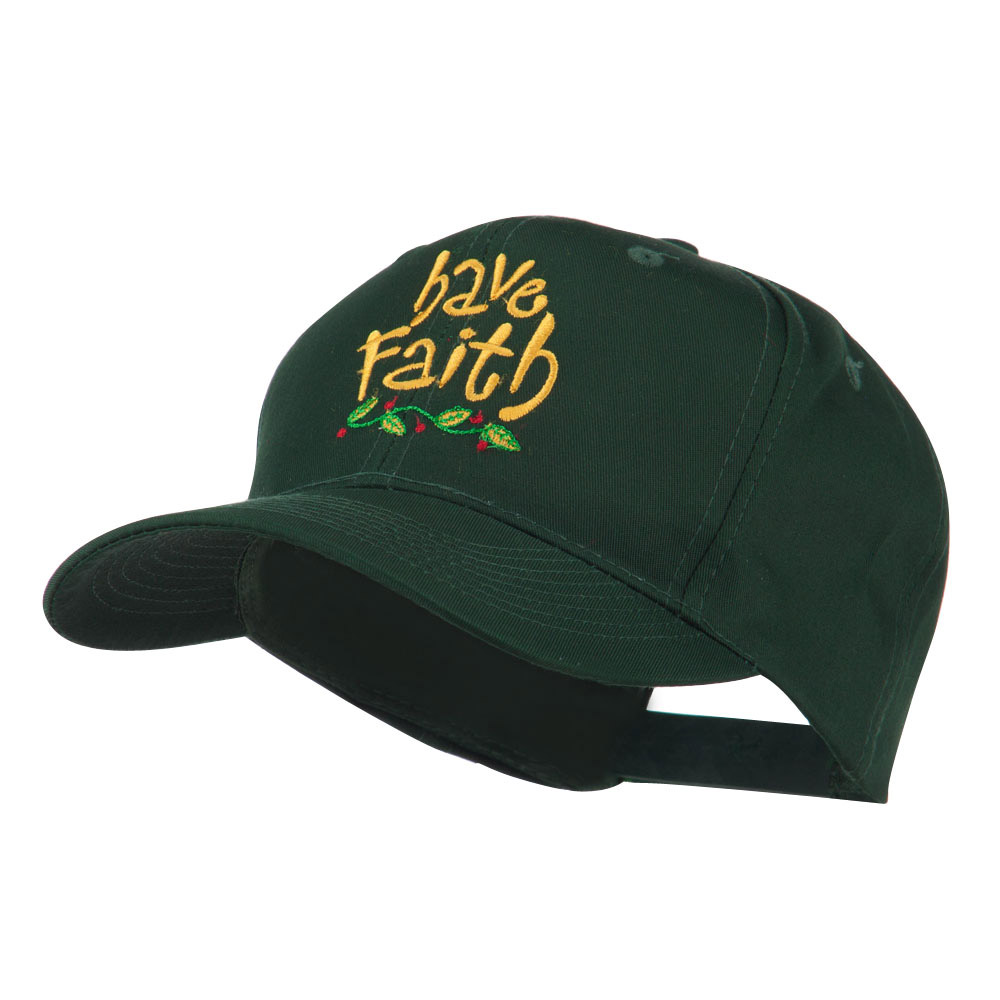 Wording of Have Faith Embroidered Cap - Green - Hats and Caps Online Shop - Hip Head Gear