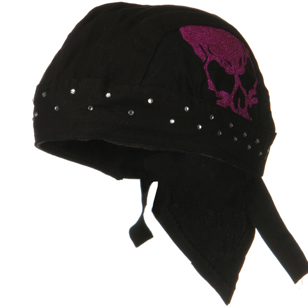 Highway Honey Trade Headwrap - Black Skull - Hats and Caps Online Shop - Hip Head Gear