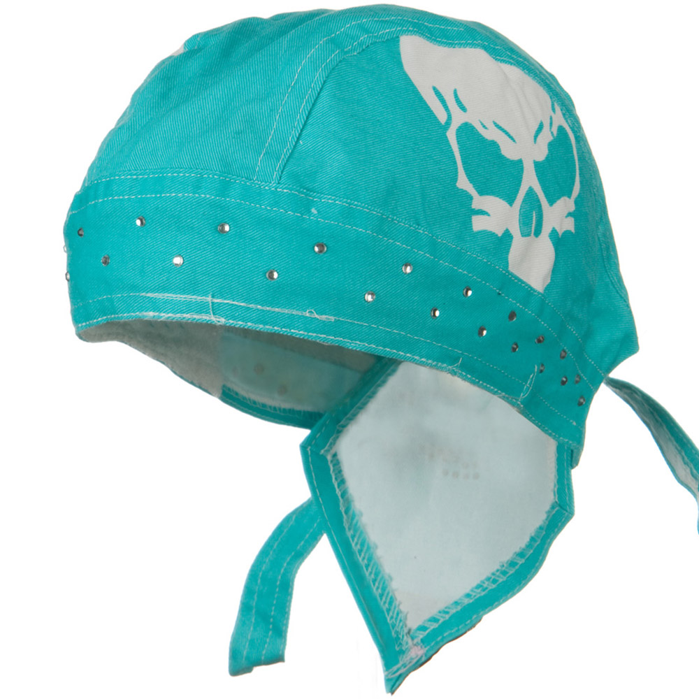 Highway Honey Trade Headwrap - Turquoise Skull - Hats and Caps Online Shop - Hip Head Gear