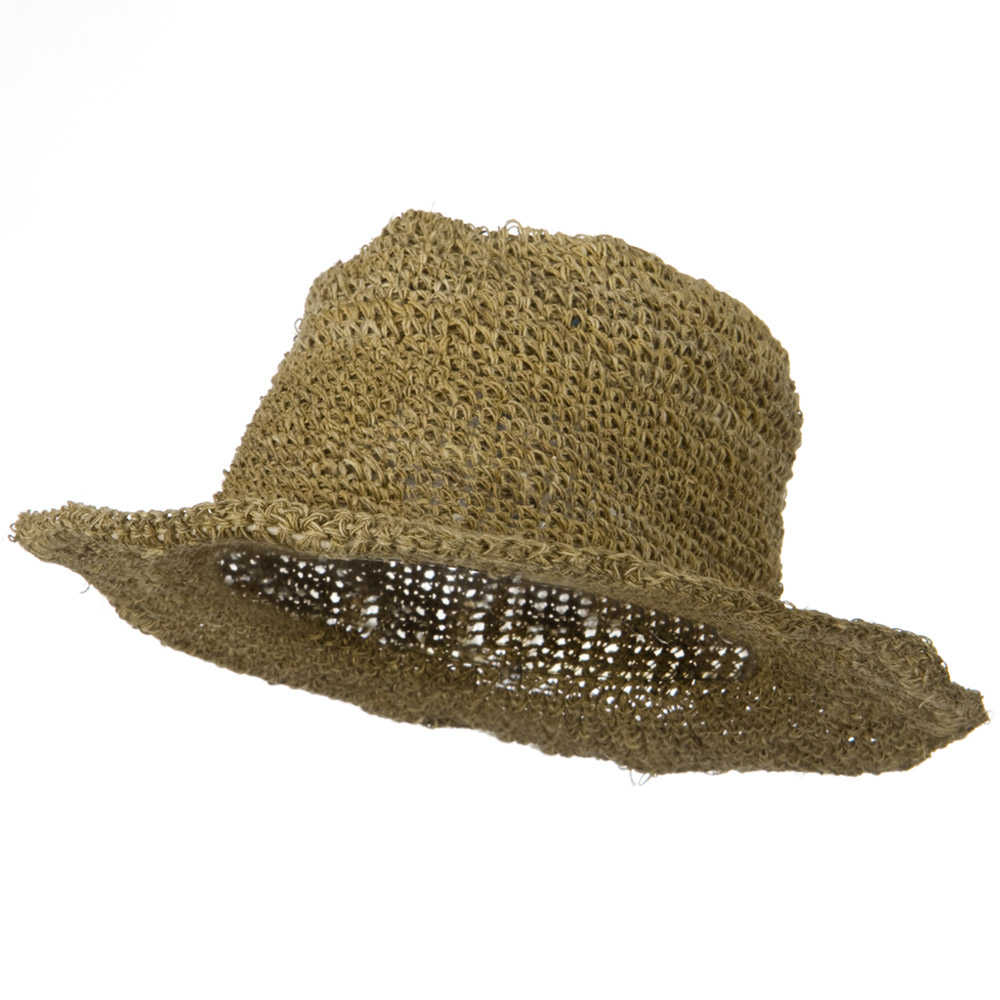 Big Brim Hemp Bucket Hat - Dark Natural - Hats and Caps Online Shop - Hip Head Gear