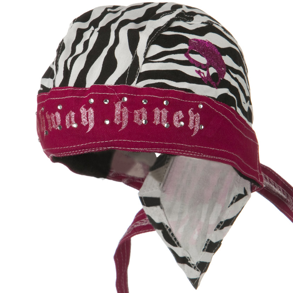 Highway Honey Trade Headwrap - Zebra Skull - Hats and Caps Online Shop - Hip Head Gear