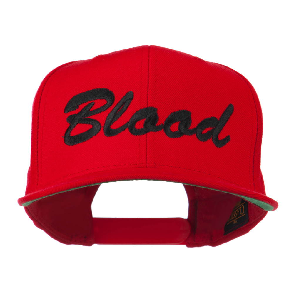 Flat Bill Hip Hop Casual Blood Embroidered Cap - Red - Hats and Caps Online Shop - Hip Head Gear
