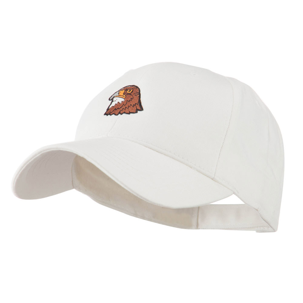 Hawk Head Mascot Embroidered Cap - White - Hats and Caps Online Shop - Hip Head Gear