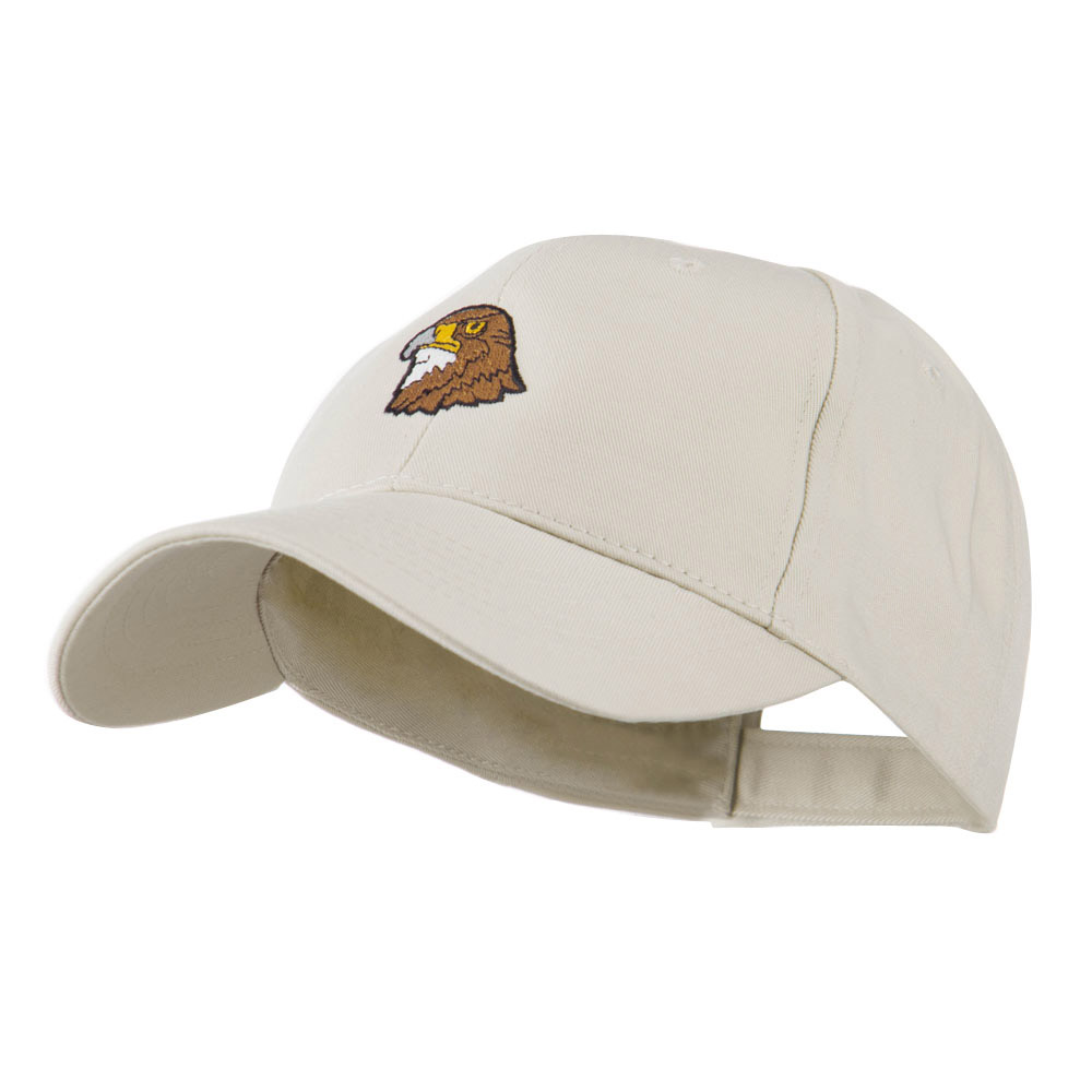 Hawk Head Mascot Embroidered Cap - Stone - Hats and Caps Online Shop - Hip Head Gear