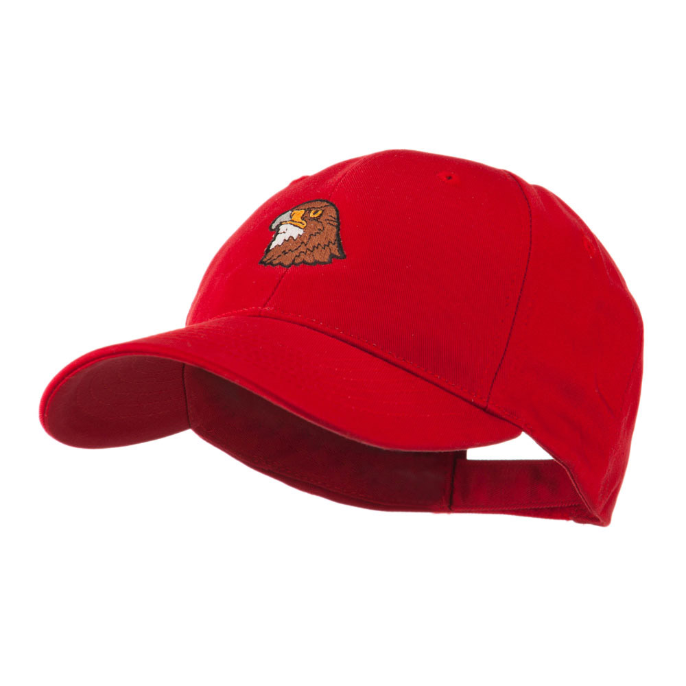 Hawk Head Mascot Embroidered Cap - Red - Hats and Caps Online Shop - Hip Head Gear