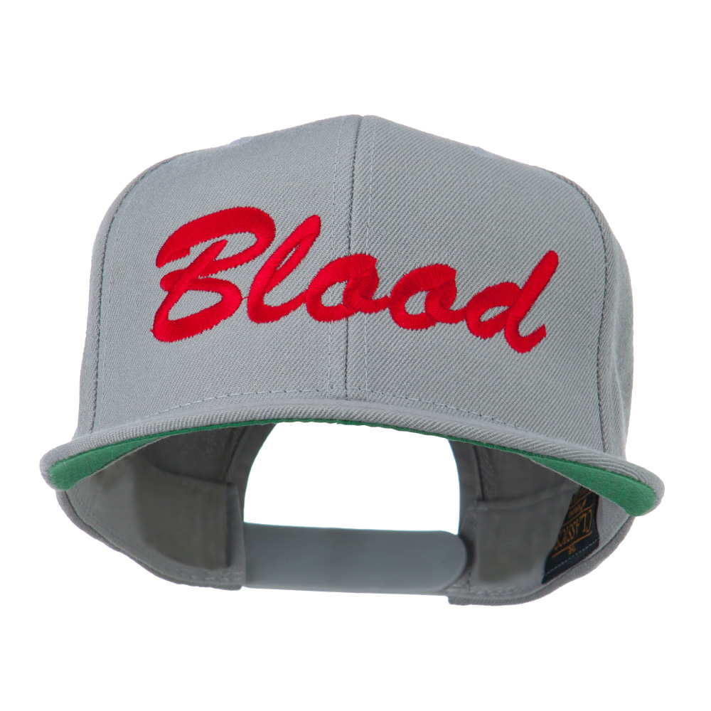 Flat Bill Hip Hop Casual Blood Embroidered Cap - Grey - Hats and Caps Online Shop - Hip Head Gear