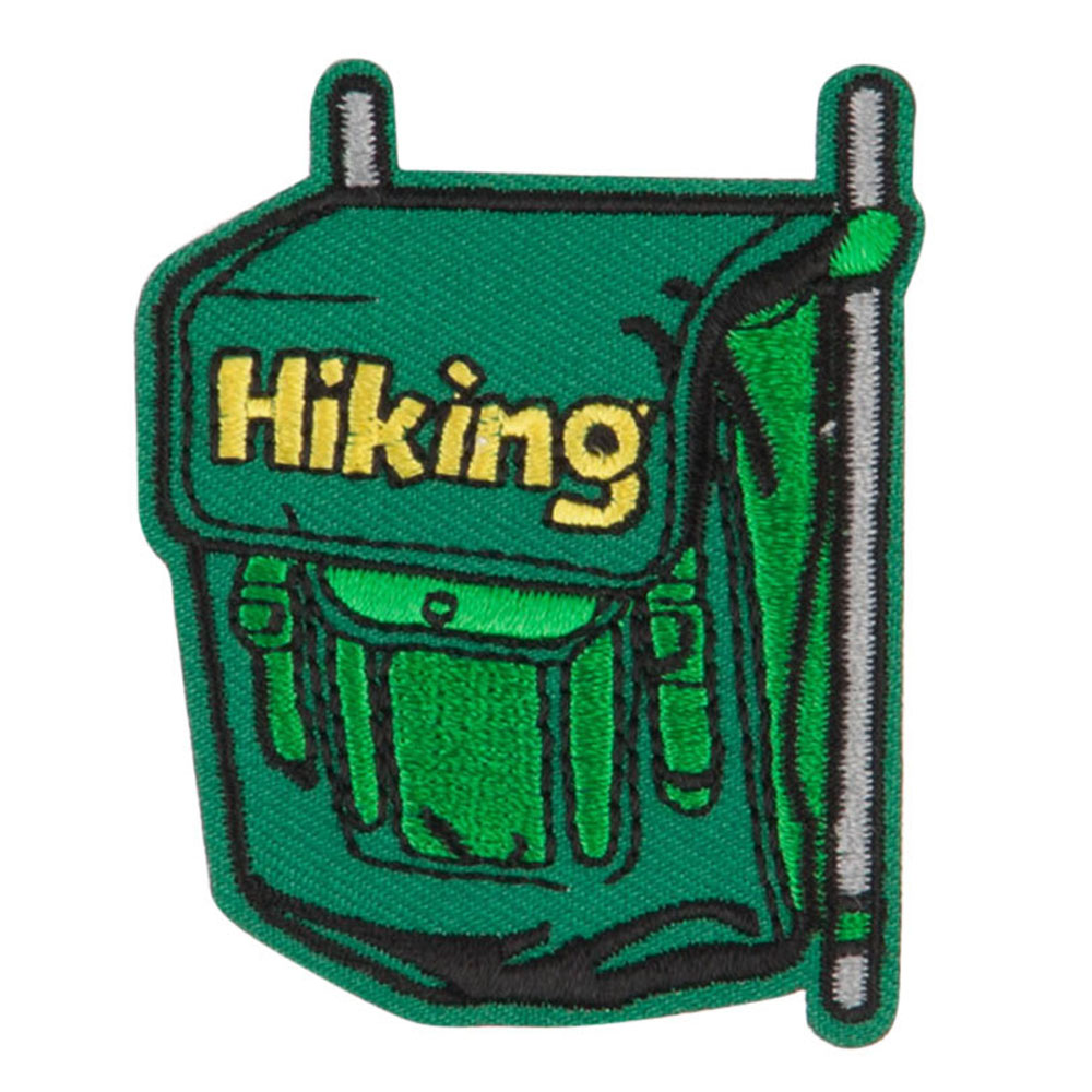 Hiking Embroidered Patches - Green