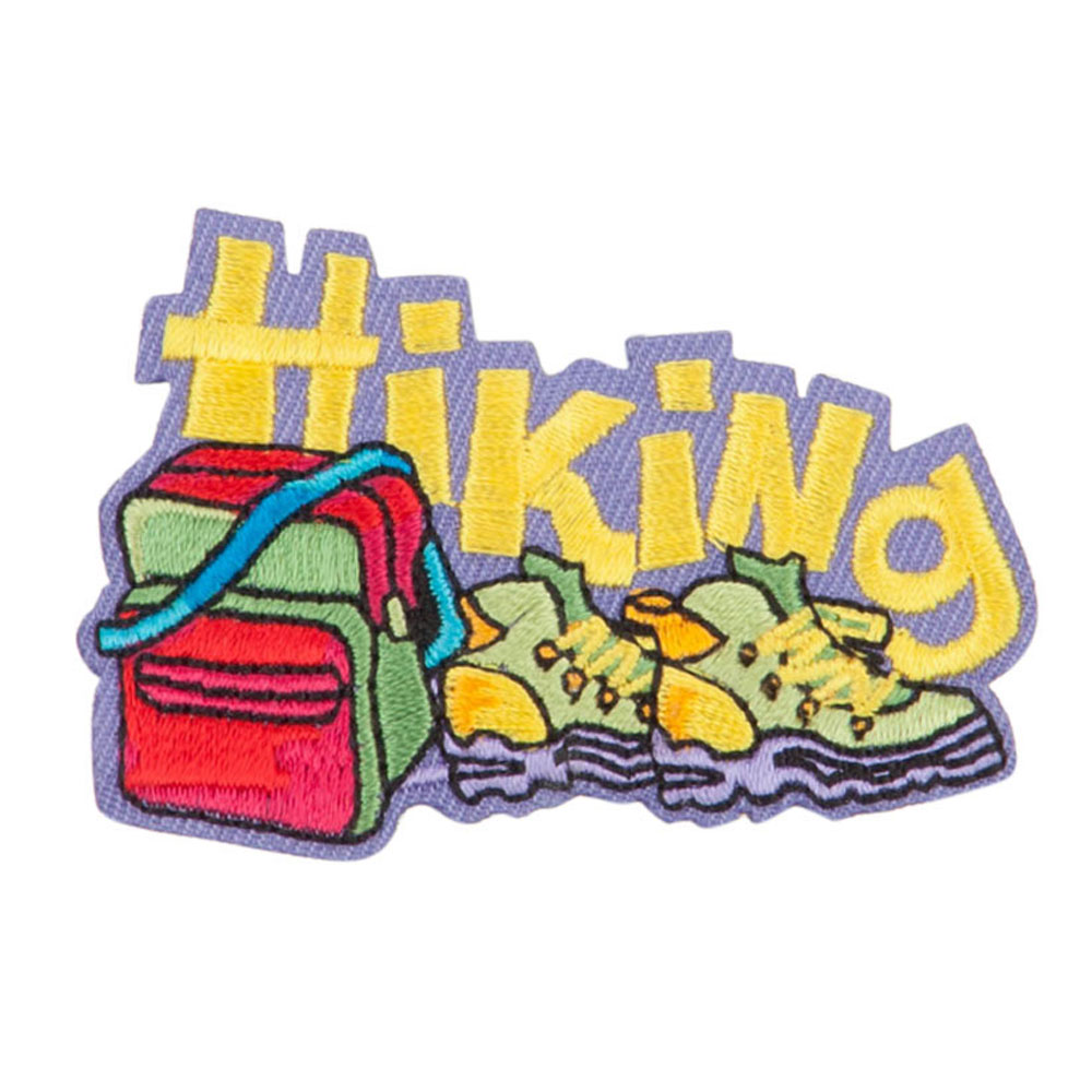 Hiking Embroidered Patches - Yellow