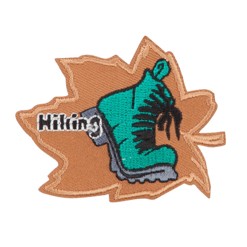 Hiking Embroidered Patches - Khaki