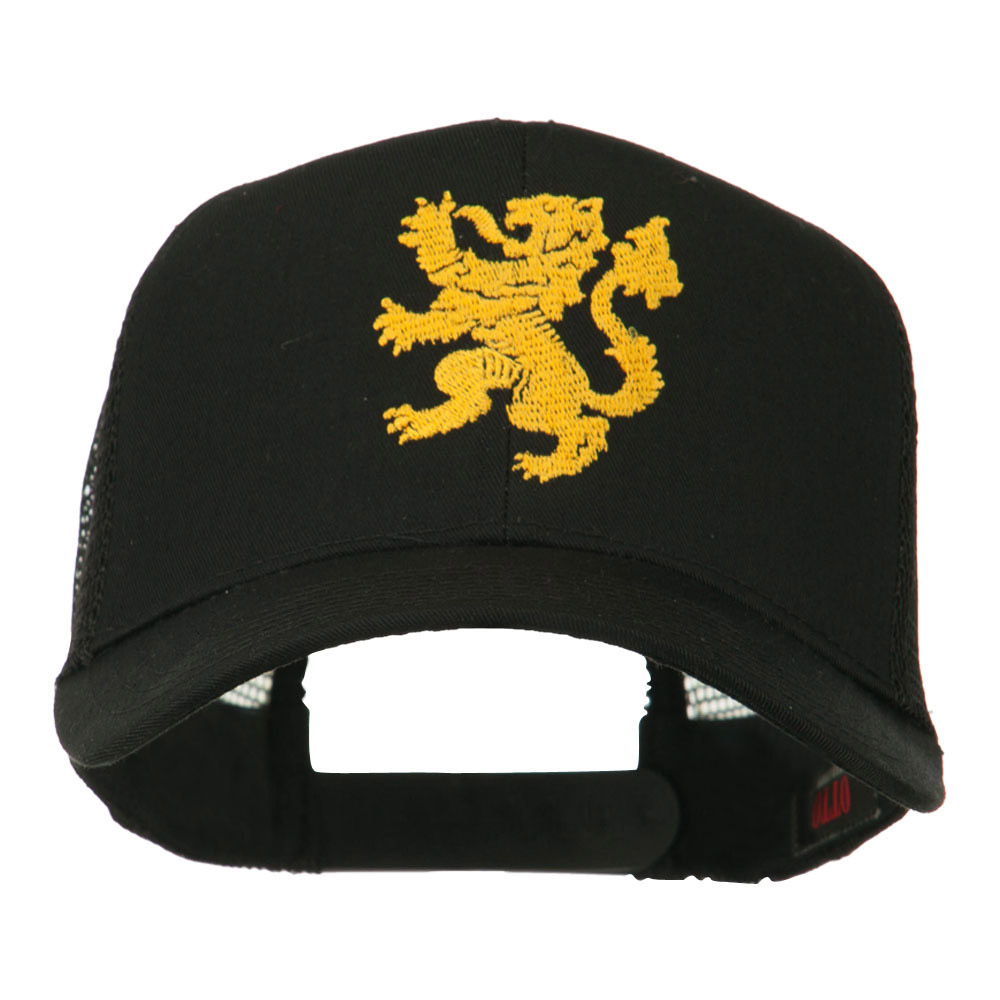 Heraldic Lion Embroidered Cap - Black - Hats and Caps Online Shop - Hip Head Gear