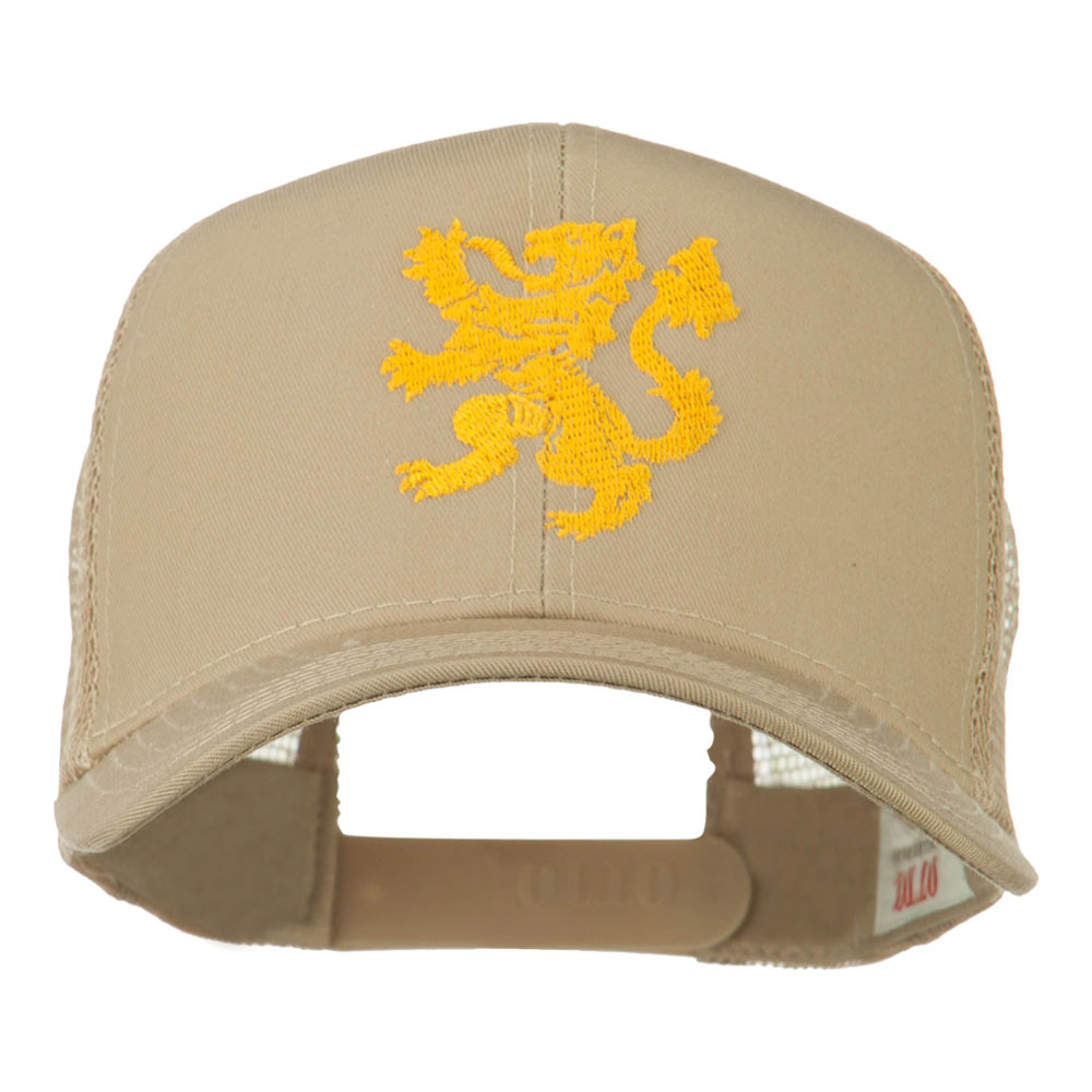 Heraldic Lion Embroidered Cap - Khaki - Hats and Caps Online Shop - Hip Head Gear