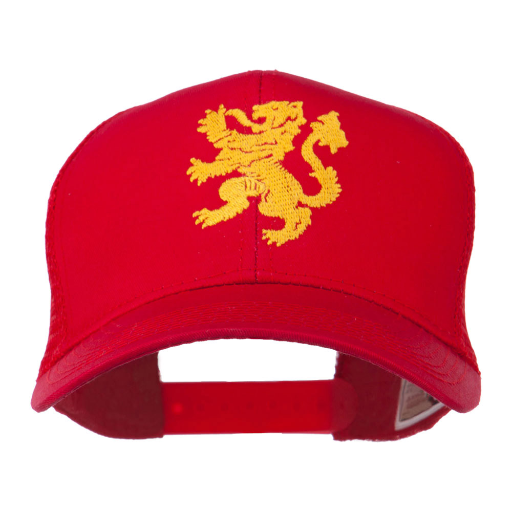 Heraldic Lion Embroidered Cap - Red - Hats and Caps Online Shop - Hip Head Gear