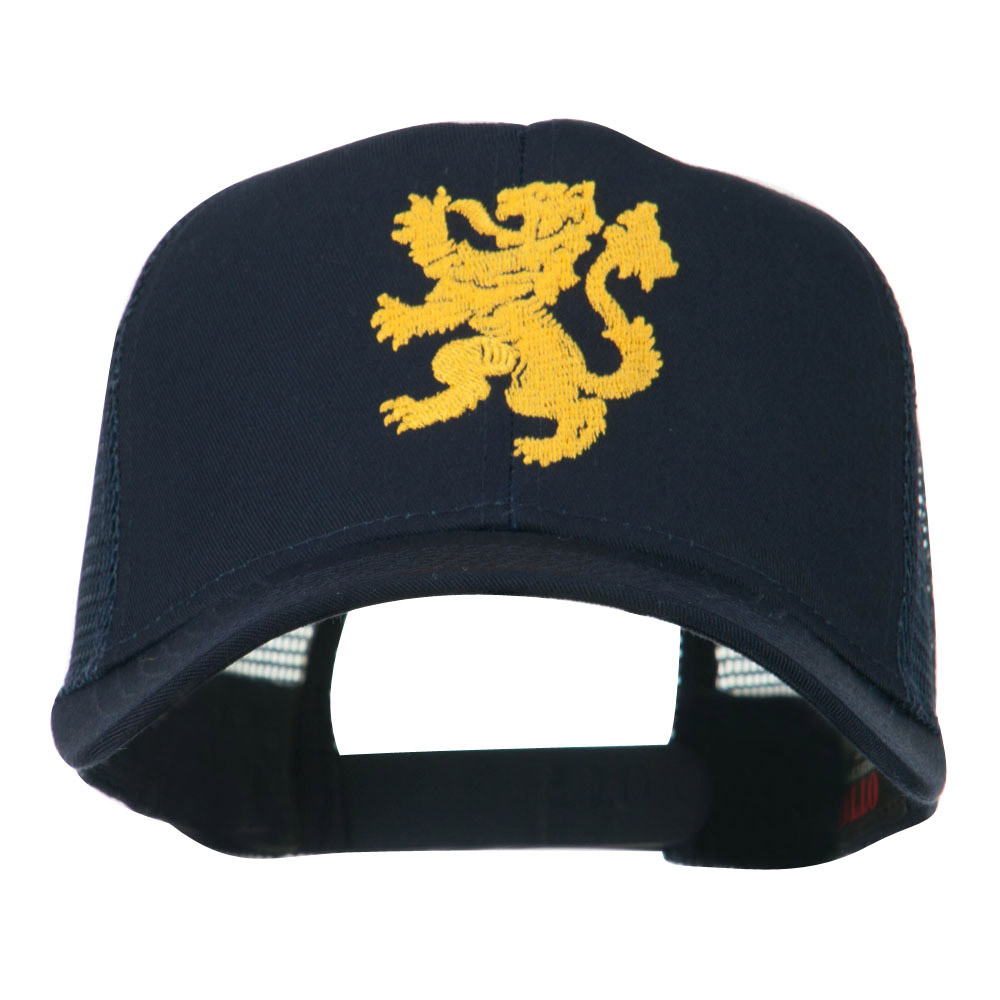 Heraldic Lion Embroidered Cap - Navy - Hats and Caps Online Shop - Hip Head Gear