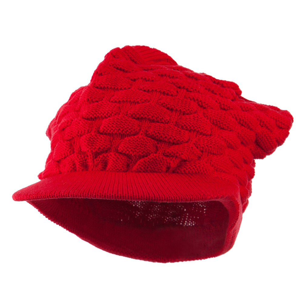 Honey Beanies Visor-Red - Hats and Caps Online Shop - Hip Head Gear