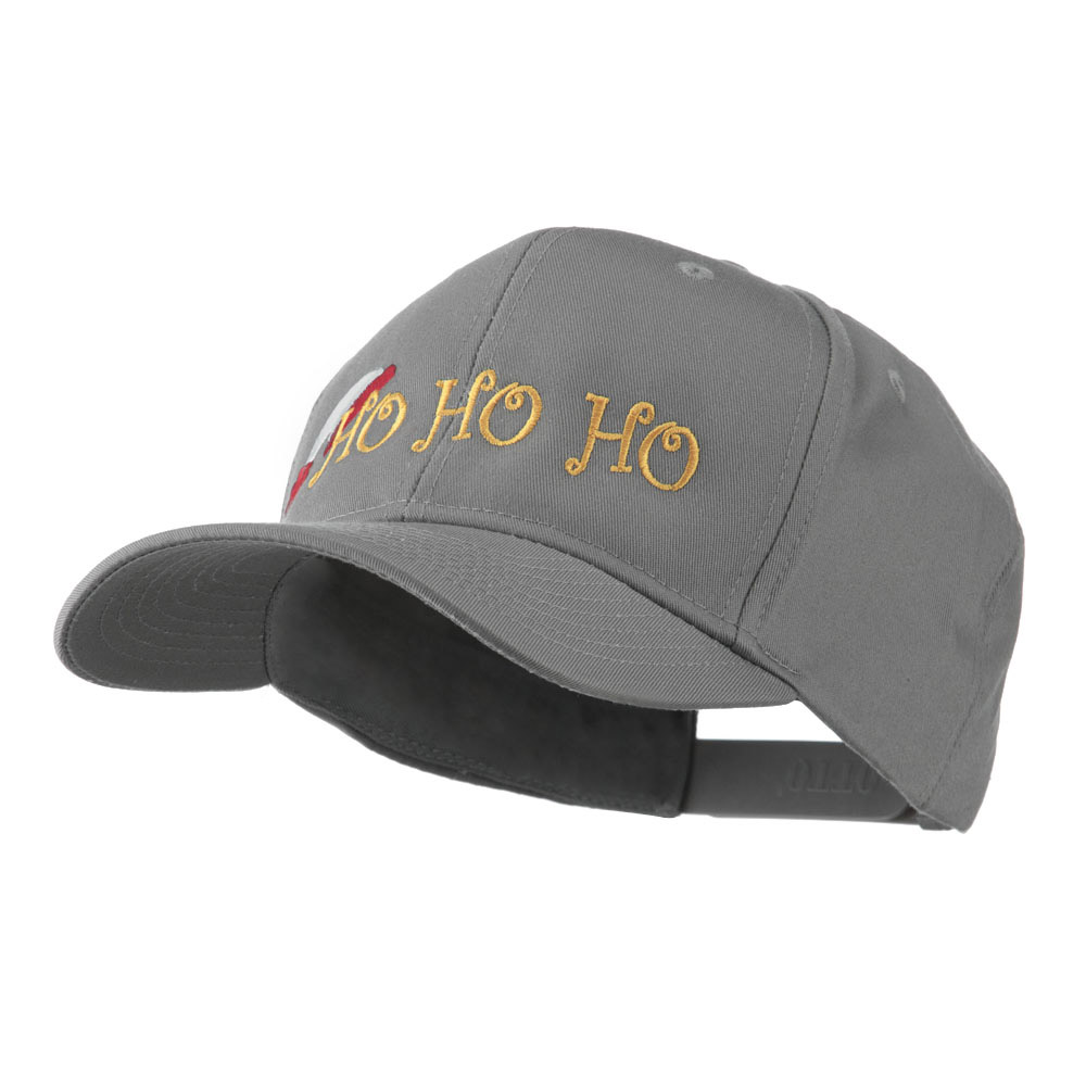 Christmas Ho Ho Ho with Hat Embroidered Cap - Grey - Hats and Caps Online Shop - Hip Head Gear
