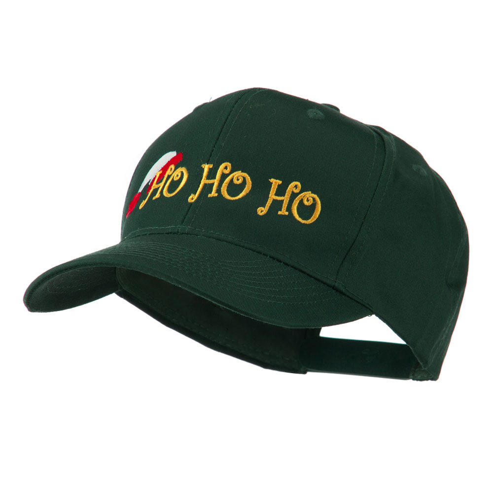 Christmas Ho Ho Ho with Hat Embroidered Cap - Green - Hats and Caps Online Shop - Hip Head Gear