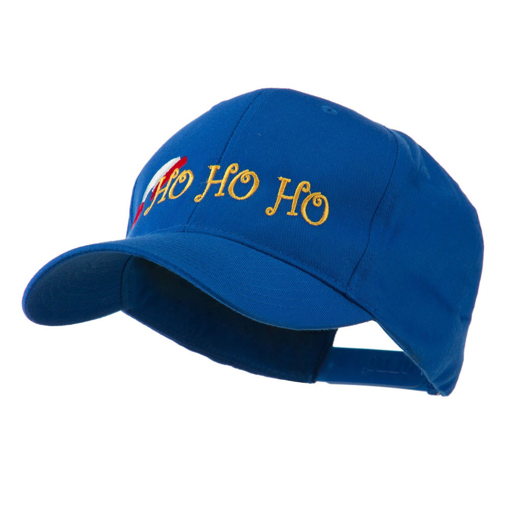 Christmas Ho Ho Ho with Hat Embroidered Cap - Royal - Hats and Caps Online Shop - Hip Head Gear