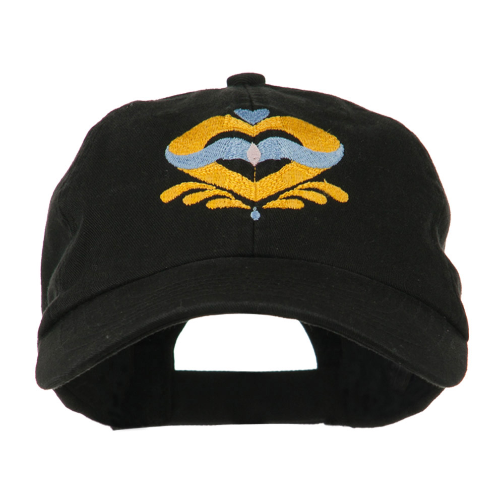 Heart Emblem Embroidered Cap - Black - Hats and Caps Online Shop - Hip Head Gear