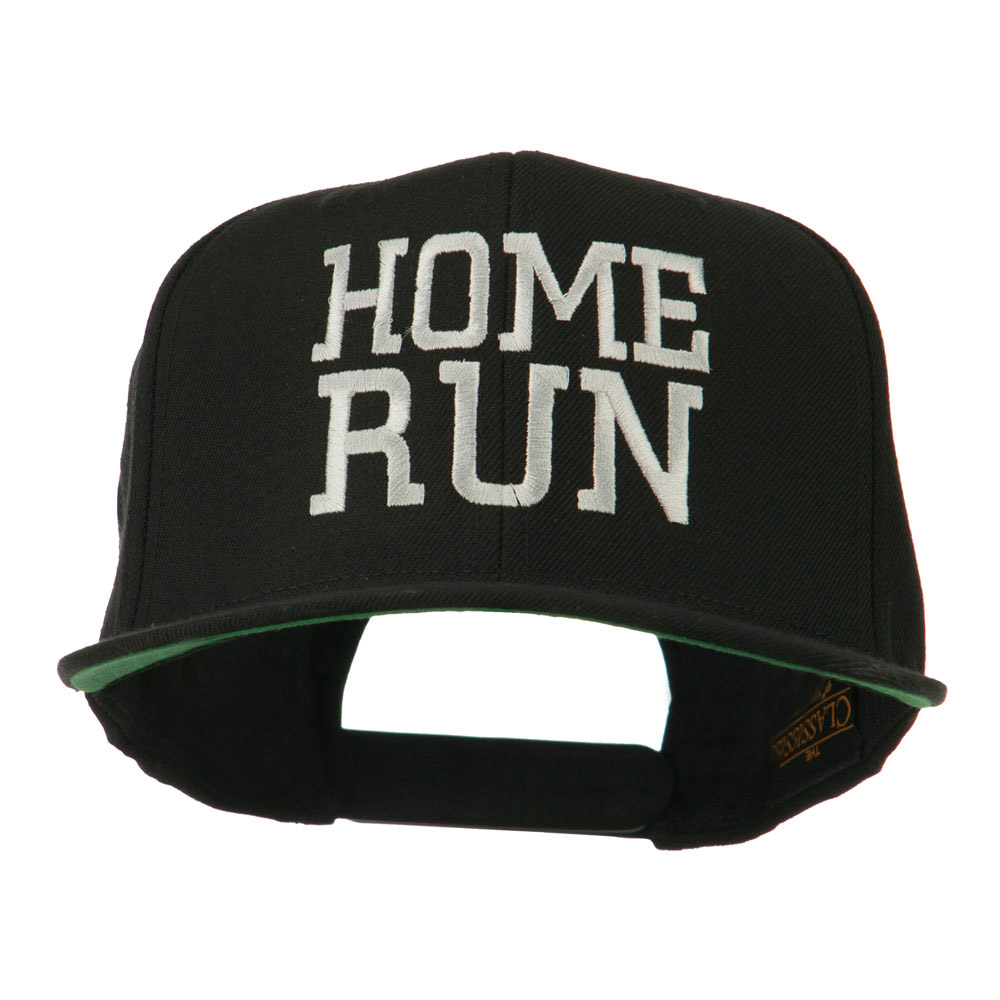 Home Run Embroidered Cap - Black - Hats and Caps Online Shop - Hip Head Gear