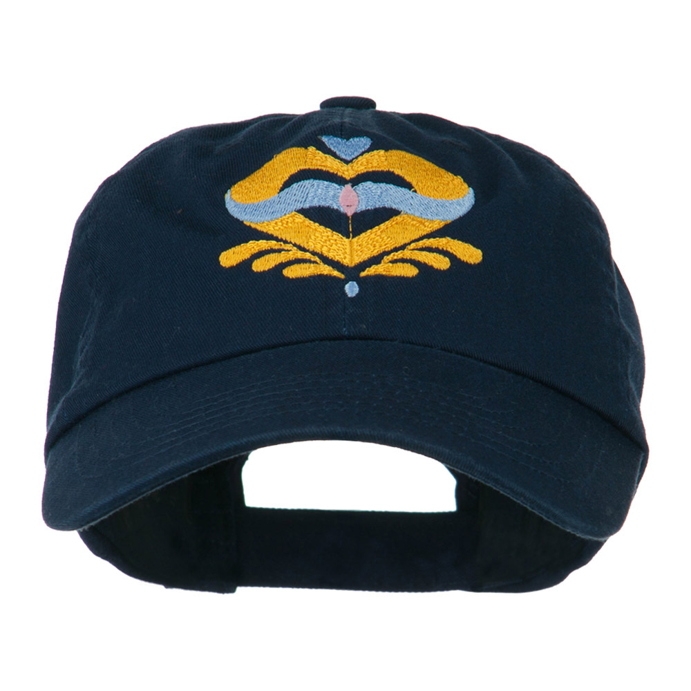 Heart Emblem Embroidered Cap - Navy - Hats and Caps Online Shop - Hip Head Gear