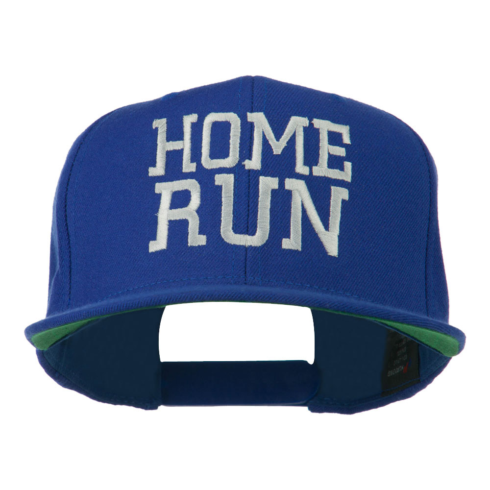 Home Run Embroidered Cap - Royal - Hats and Caps Online Shop - Hip Head Gear