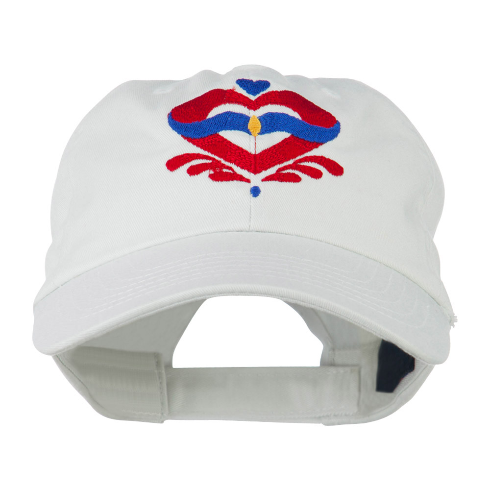 Heart Emblem Embroidered Cap - White - Hats and Caps Online Shop - Hip Head Gear