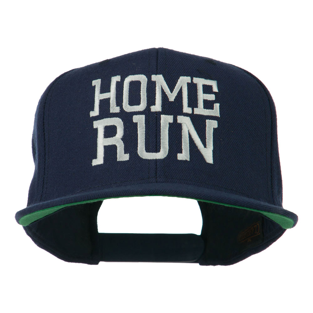 Home Run Embroidered Cap - Navy - Hats and Caps Online Shop - Hip Head Gear