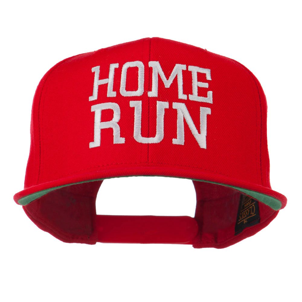 Home Run Embroidered Cap - Red - Hats and Caps Online Shop - Hip Head Gear
