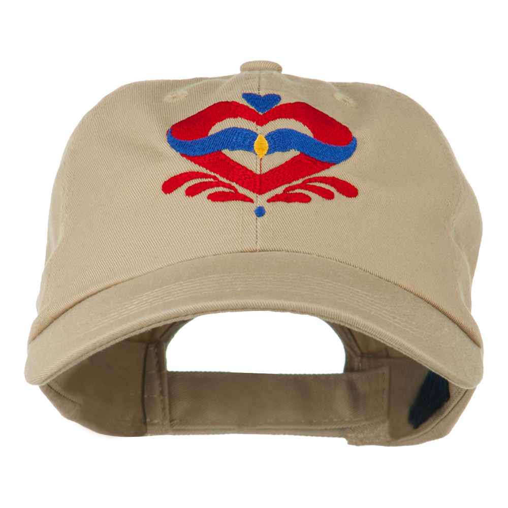 Heart Emblem Embroidered Cap - Khaki - Hats and Caps Online Shop - Hip Head Gear