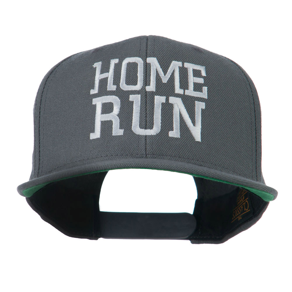 Home Run Embroidered Cap - Silver - Hats and Caps Online Shop - Hip Head Gear