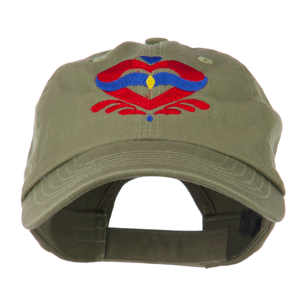 Heart Emblem Embroidered Cap - Olive - Hats and Caps Online Shop - Hip Head Gear