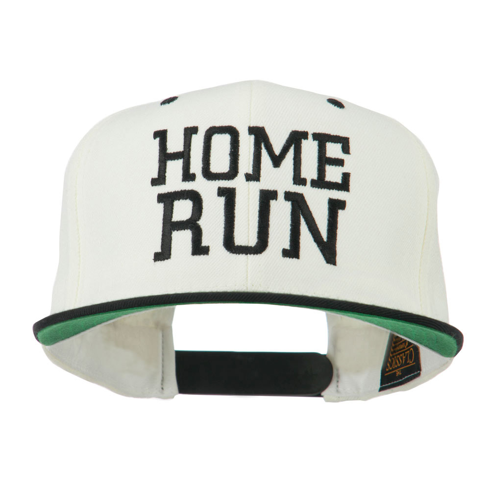 Home Run Embroidered Cap - Natural Black - Hats and Caps Online Shop - Hip Head Gear
