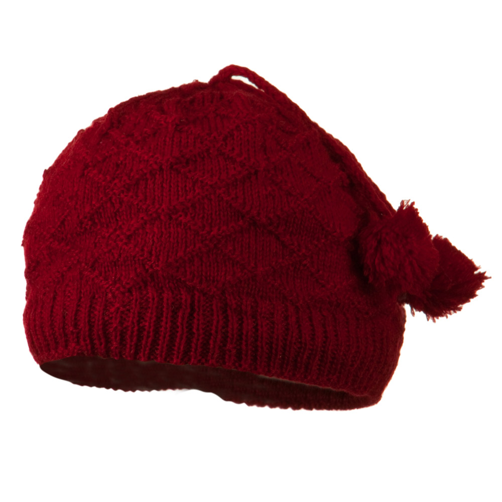 Infant Knitted Hat with Tassel - Red - Hats and Caps Online Shop - Hip Head Gear
