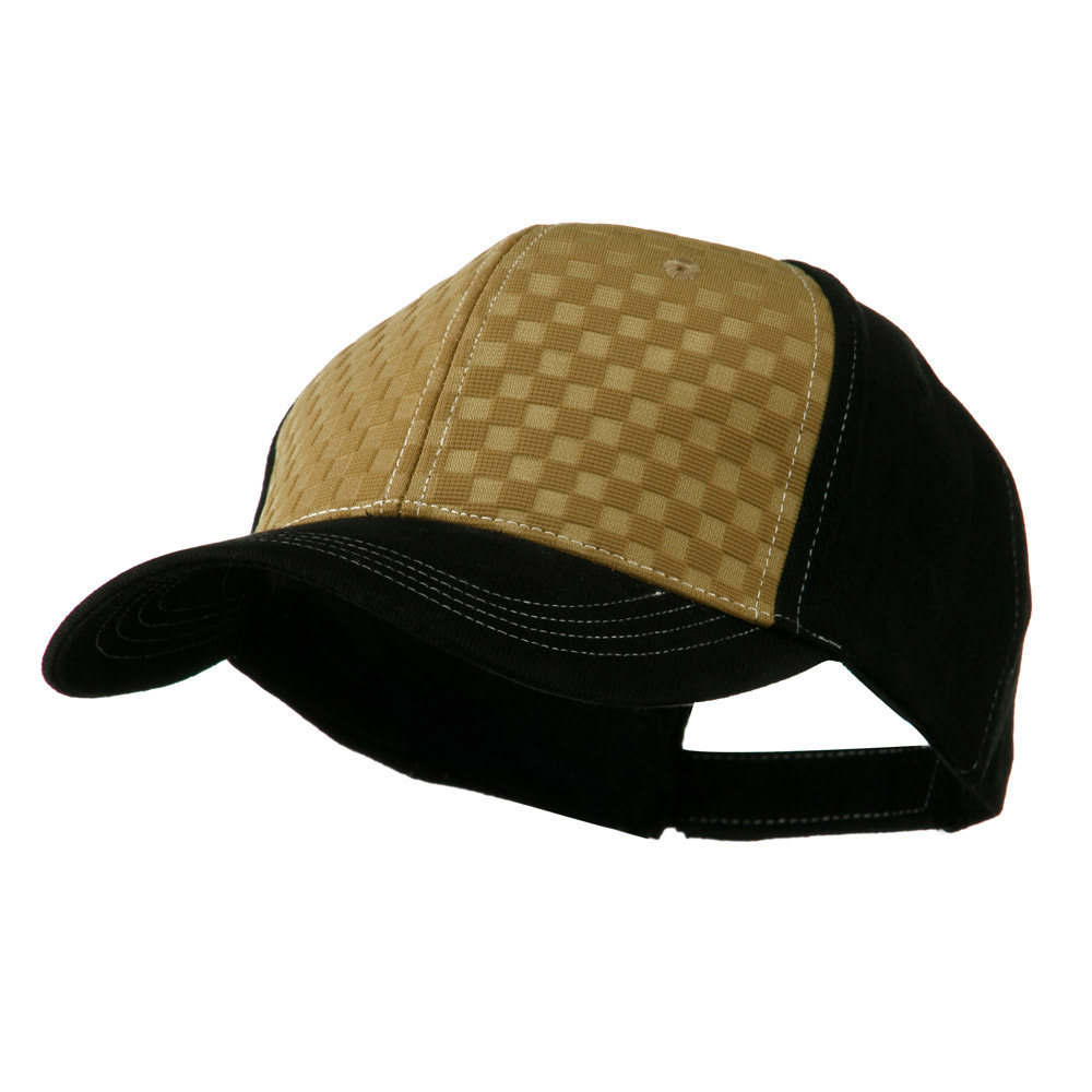 Hipster Two Tone Ball Cap - Camel Black - Hats and Caps Online Shop - Hip Head Gear