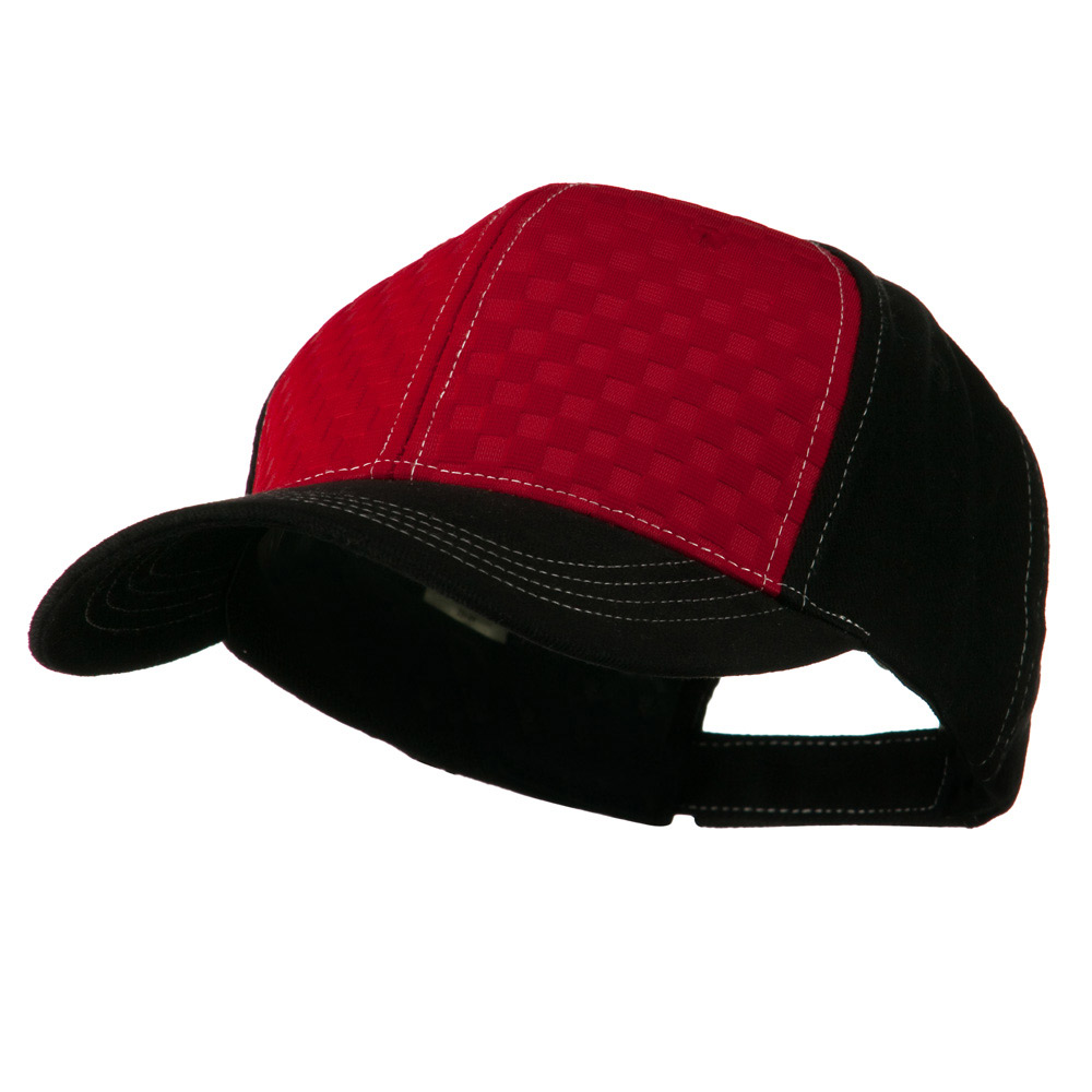 Hipster Two Tone Ball Cap - Red Black - Hats and Caps Online Shop - Hip Head Gear