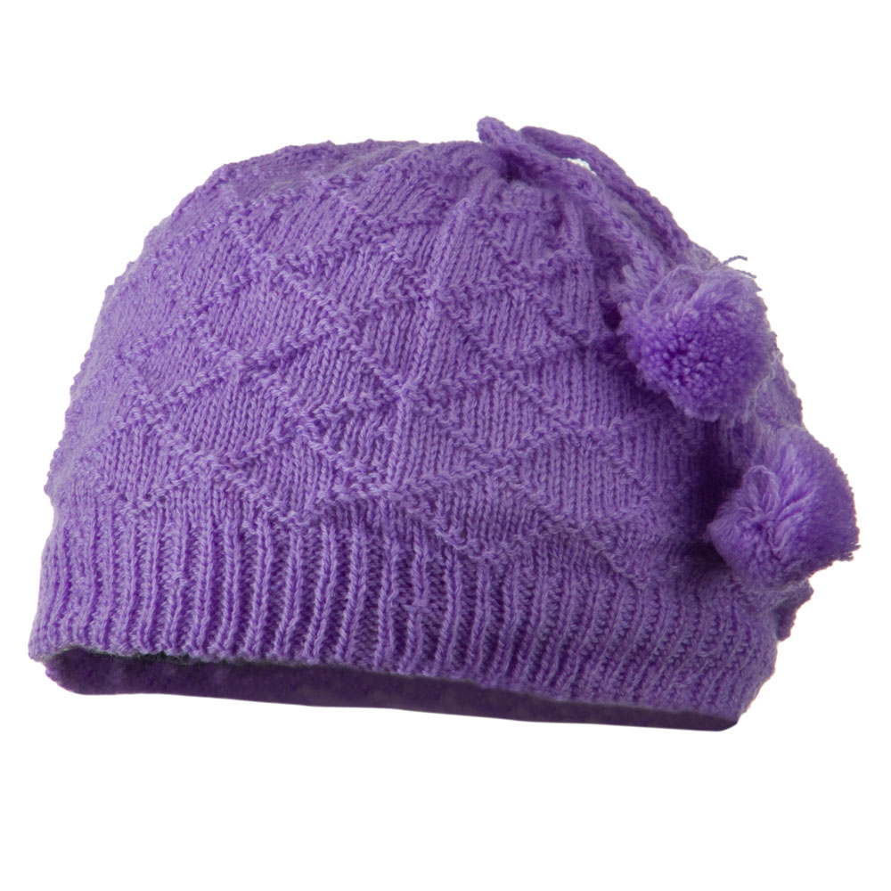 Infant Knitted Hat with Tassel - Lavender - Hats and Caps Online Shop - Hip Head Gear