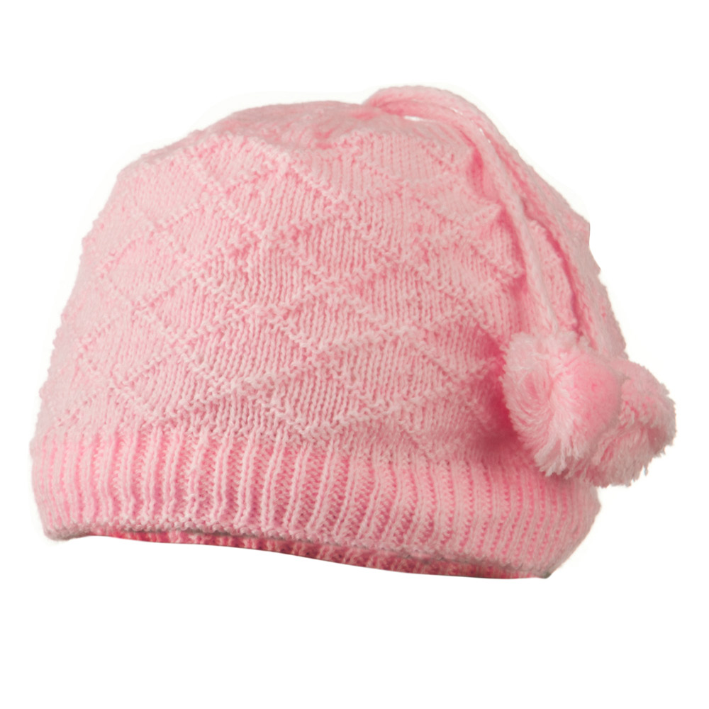 Infant Knitted Hat with Tassel - Pink - Hats and Caps Online Shop - Hip Head Gear