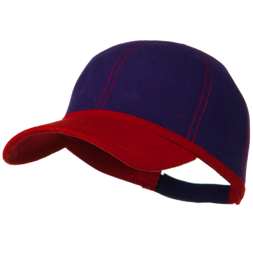 High Crown Wool Felt Cap - Red Purple - Hats and Caps Online Shop - Hip Head Gear