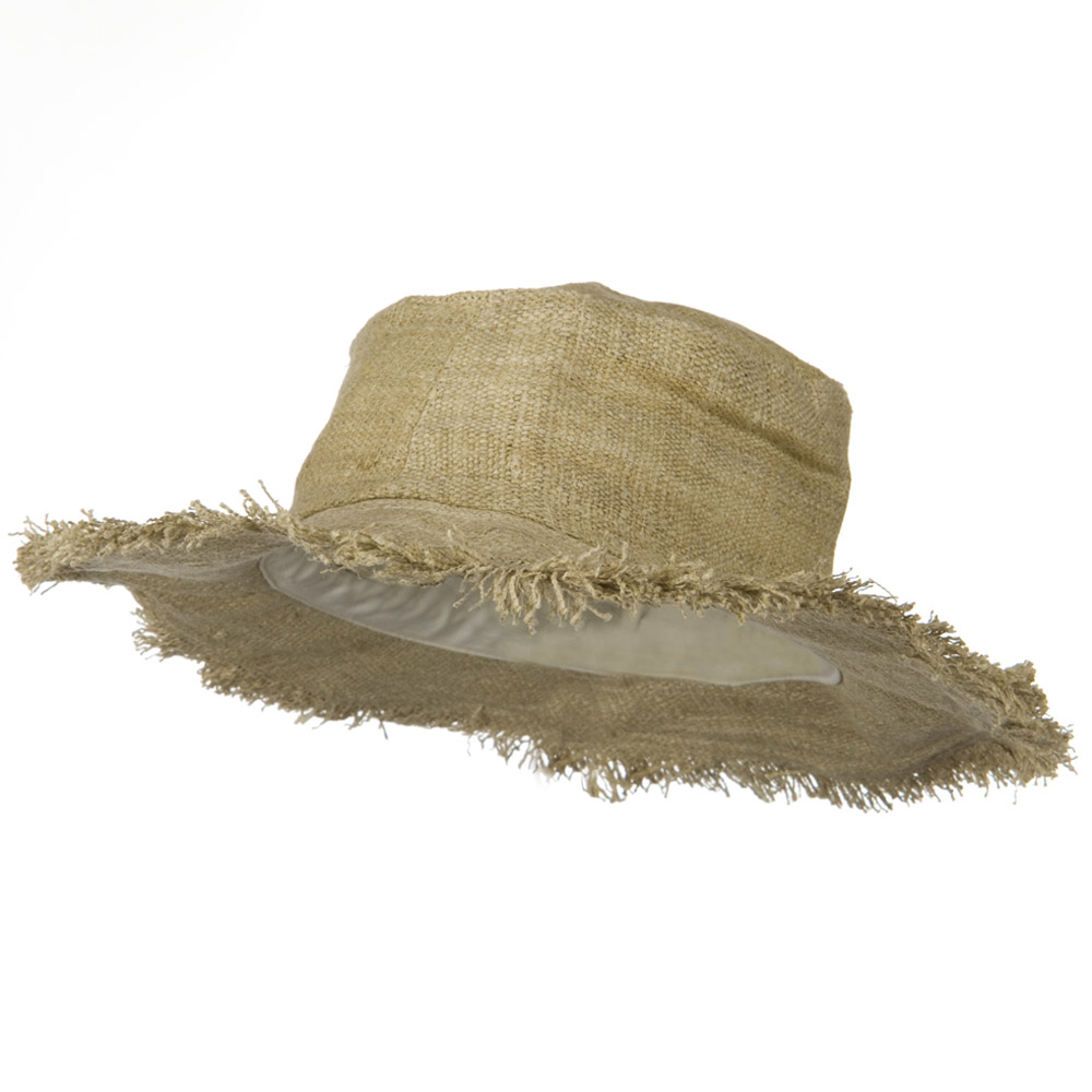 Natural Frayed Brim