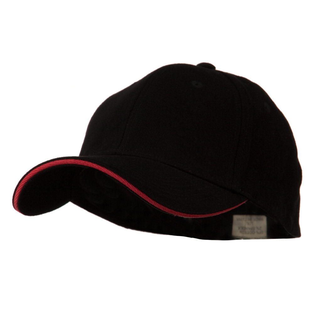 Heavy Weight Fitted Cap - Black Red - Hats and Caps Online Shop - Hip Head Gear