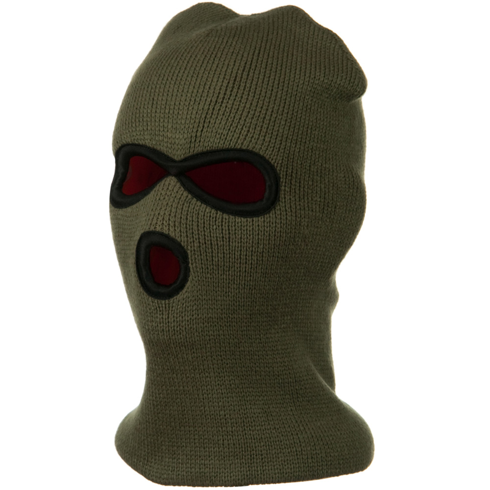 Heavy Weight Reversible Ski Mask - Olive - Hats and Caps Online Shop - Hip Head Gear