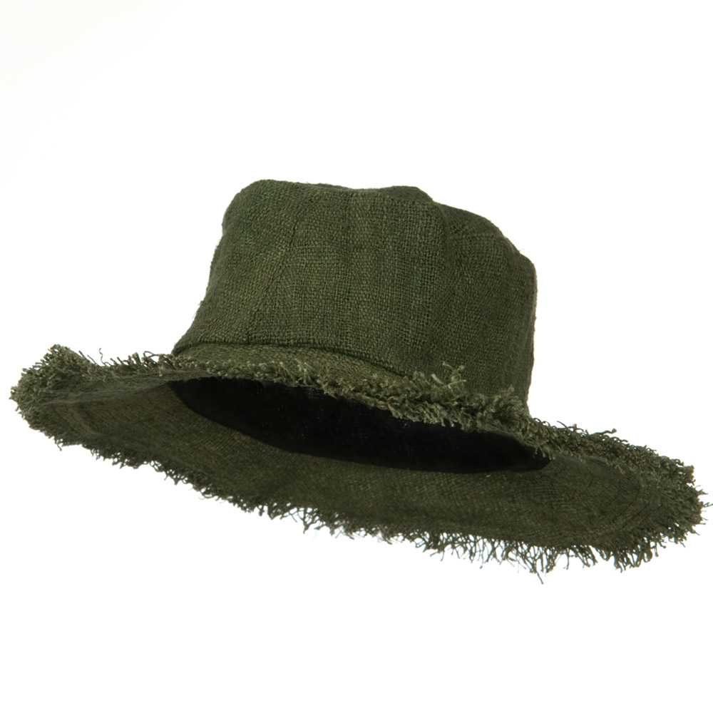 Hemp Hat with Frayed Brim - Green - Hats and Caps Online Shop - Hip Head Gear
