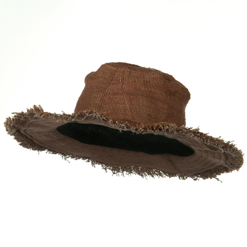 Hemp Hat with Frayed Brim - Brown - Hats and Caps Online Shop - Hip Head Gear