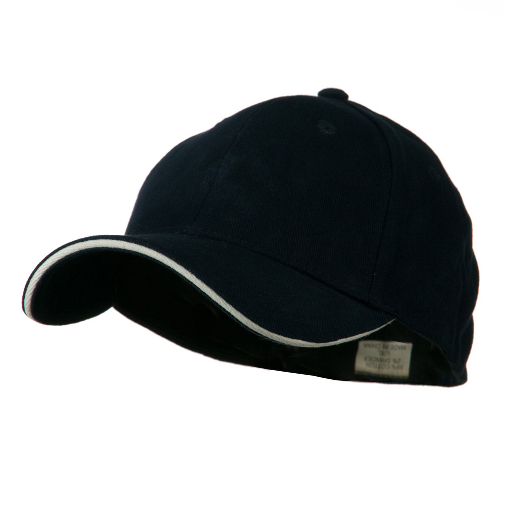 Heavy Weight Fitted Cap - Navy White - Hats and Caps Online Shop - Hip Head Gear