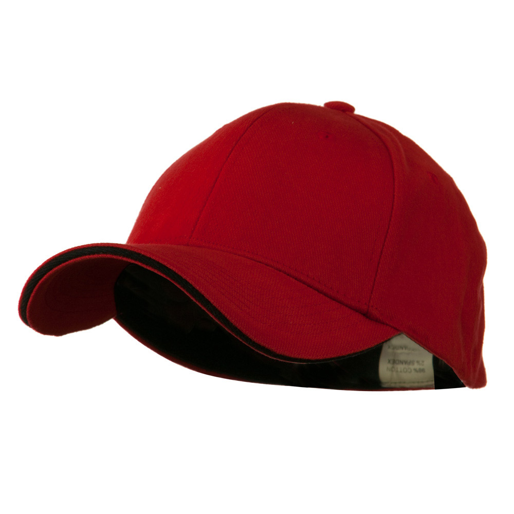 Heavy Weight Fitted Cap - Red Black - Hats and Caps Online Shop - Hip Head Gear